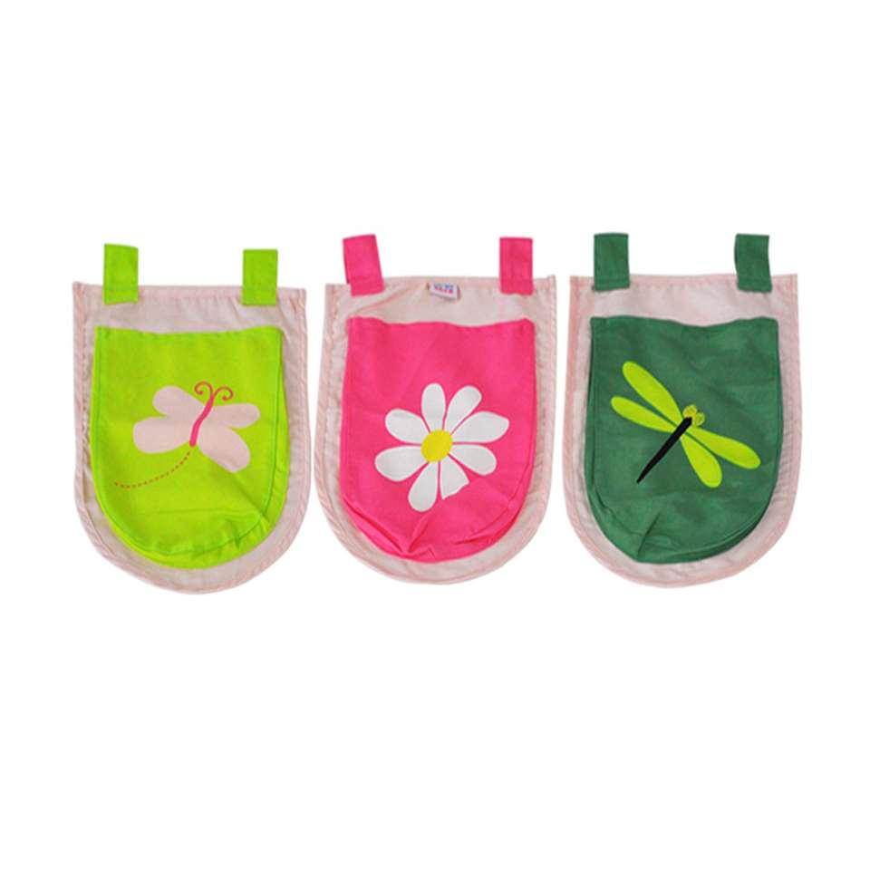 Vipack 3 zakjes Spring - roze - 51,5x30x3 cm - Leen Bakker