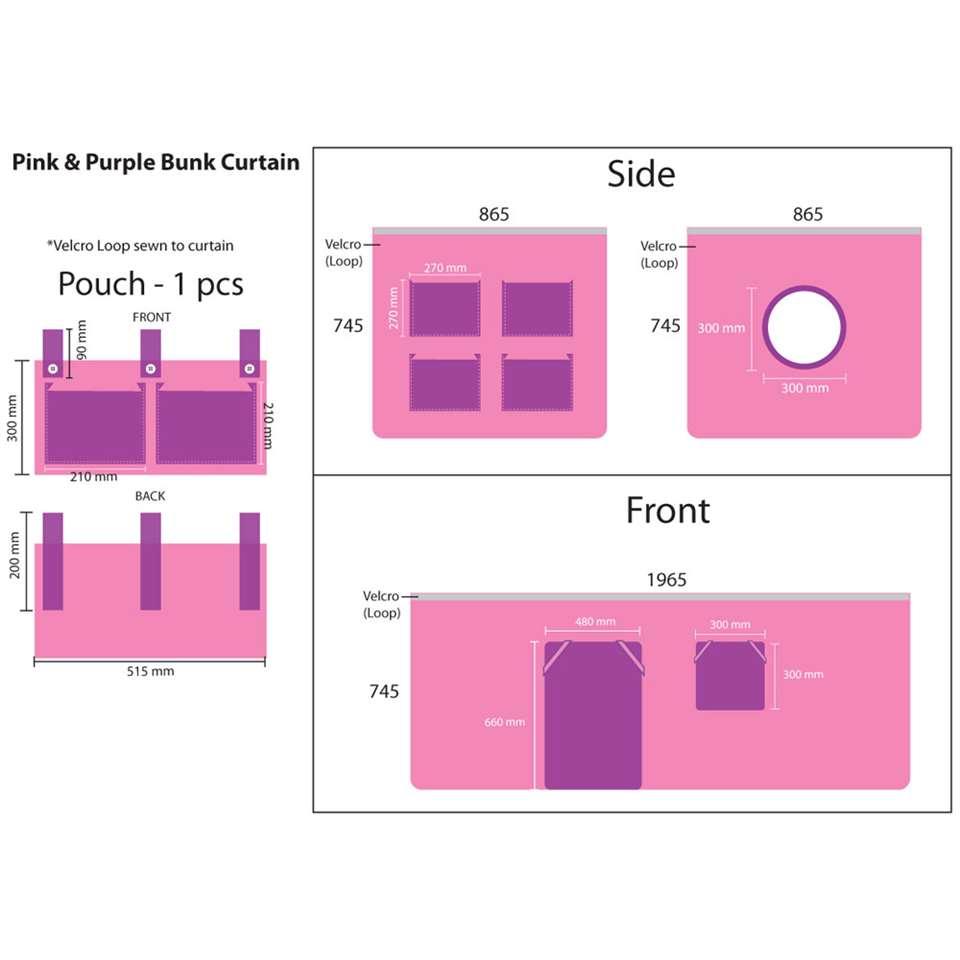 Vipack speelgordijn Bella - roze - 196,5x86,5x74,5 cm - Leen Bakker