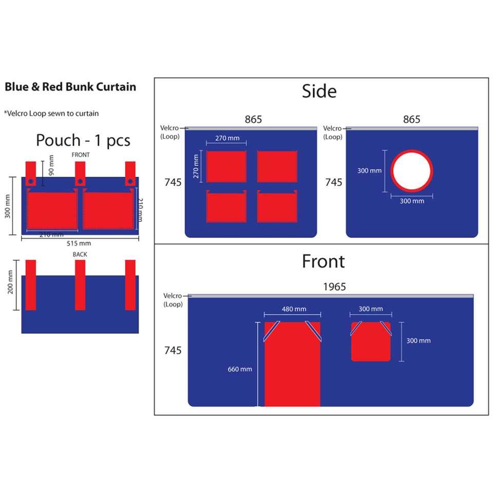 Vipack speelgordijn Domino - blauw - 196,5x86,5x74,5 cm - Leen Bakker