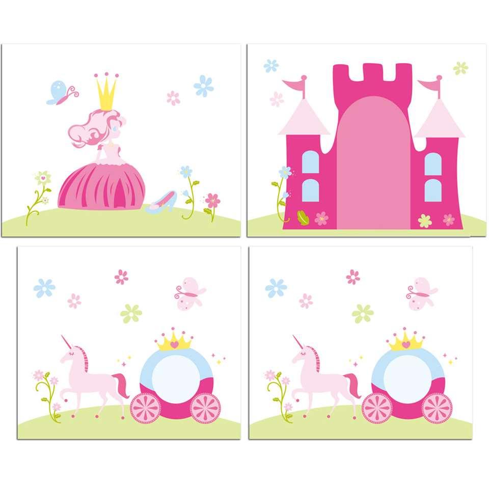 Vipack speelgordijn Princess - roze - 235x140x0,5 cm - Leen Bakker