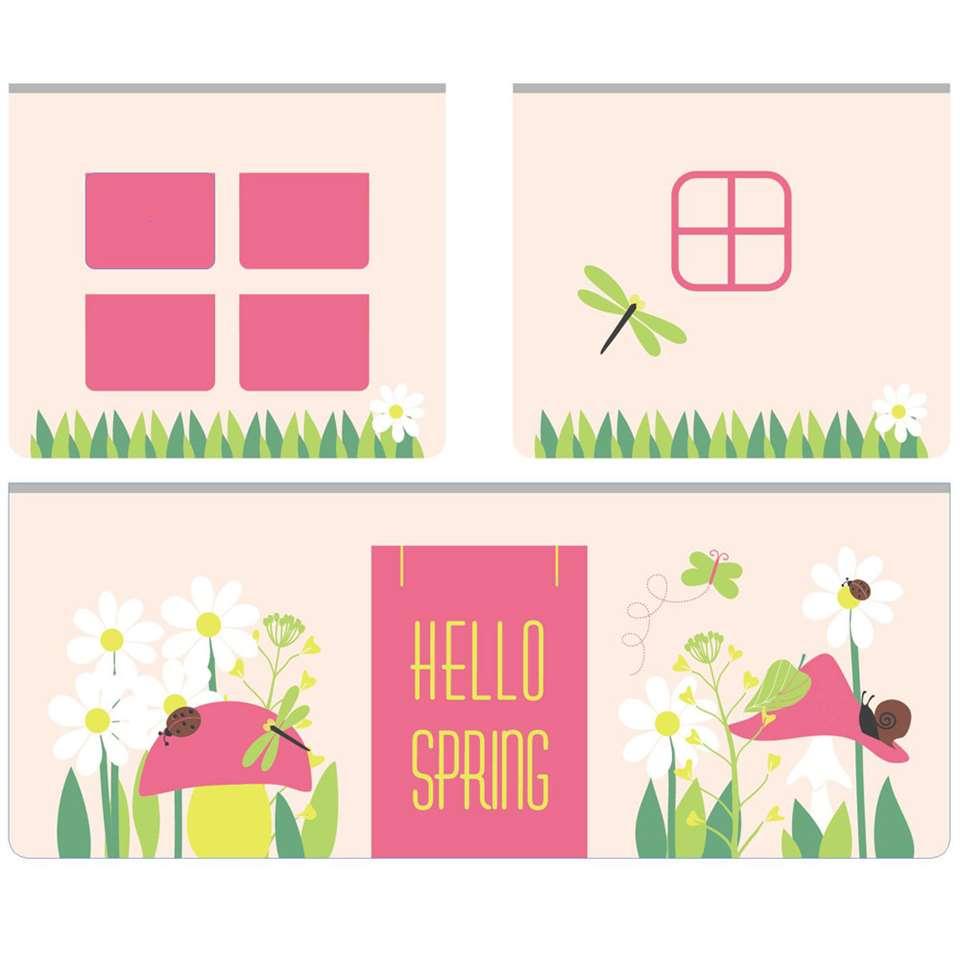 Vipack speelgordijn Spring - roze - 235x140x0,5 cm - Leen Bakker