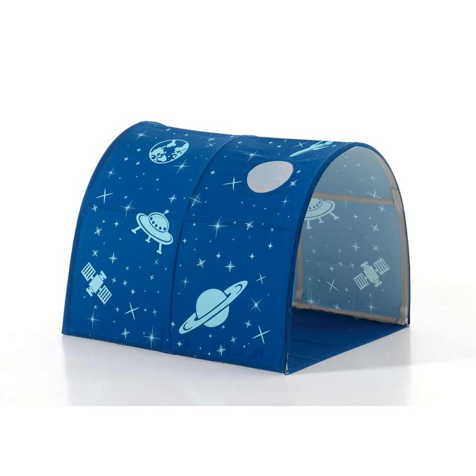 Vipack tunnel Astro - blauw - 95x85x10 cm - Leen Bakker
