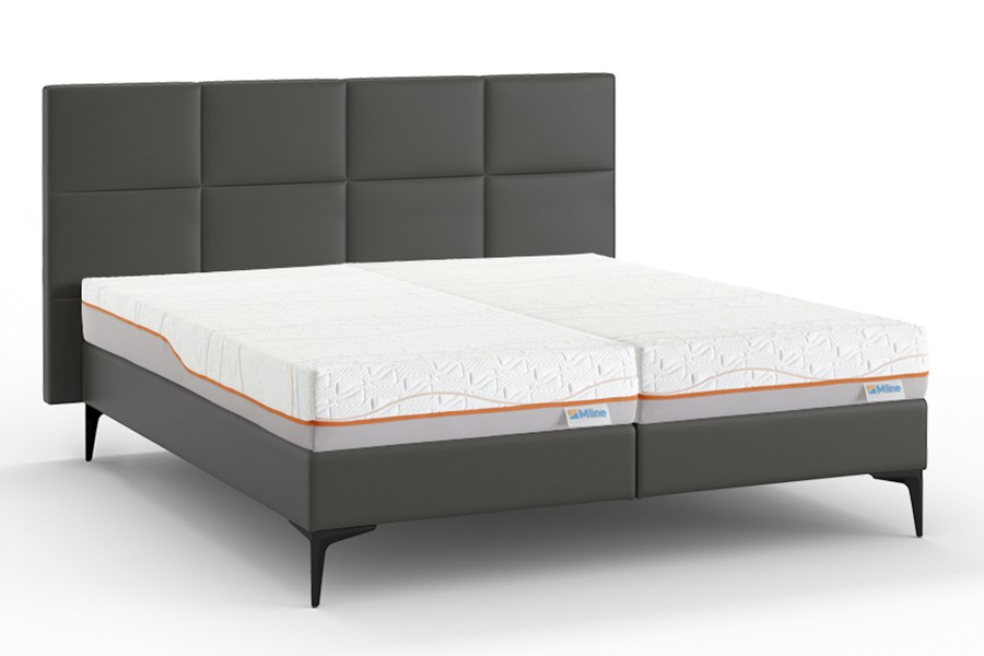 Boxspring Attraktiv Trendik Vlak Met Slow Motion 5 Matras