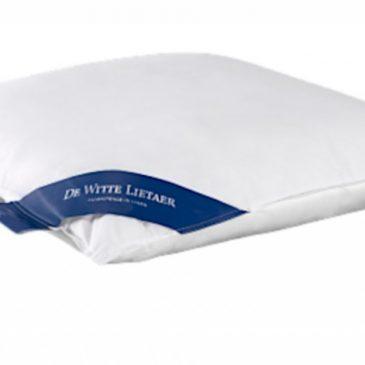 De Witte Lietaer hoofdkussen Ducky 60 x 60 cm eendendons/katoen wit